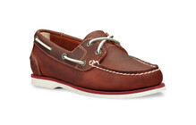 Timberland Women's EK Classic Boat Unlined Boat Shoe dark red